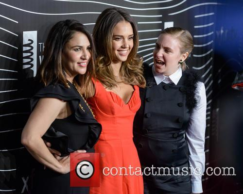 Jessica Alba and Lena Dunham