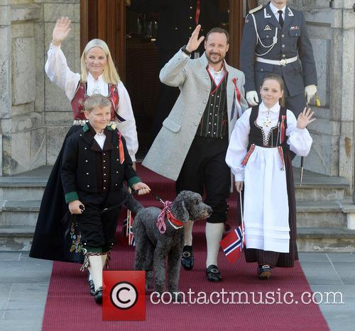 Crown Princess Mette- Marit, Crown Prince Haakon, Princess Ingrid Alexandra and Prince Sverre Magnus