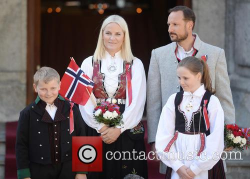Crown Princess Mette- Marit, Crown Prince Haakon, Princess Ingrid Alexandra and Prince Sverre Magnus 3