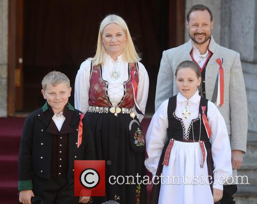 Crown Princess Mette- Marit, Crown Prince Haakon, Princess Ingrid Alexandra and Prince Sverre Magnus 6
