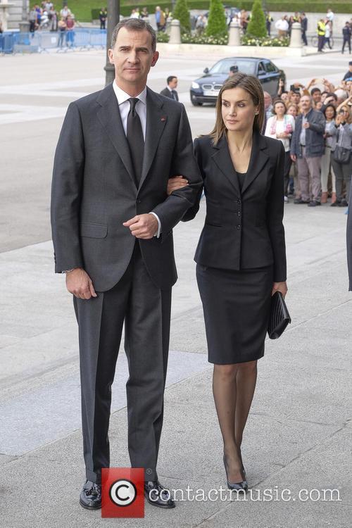 King Felipe VI of Spain and Queen Letizia...