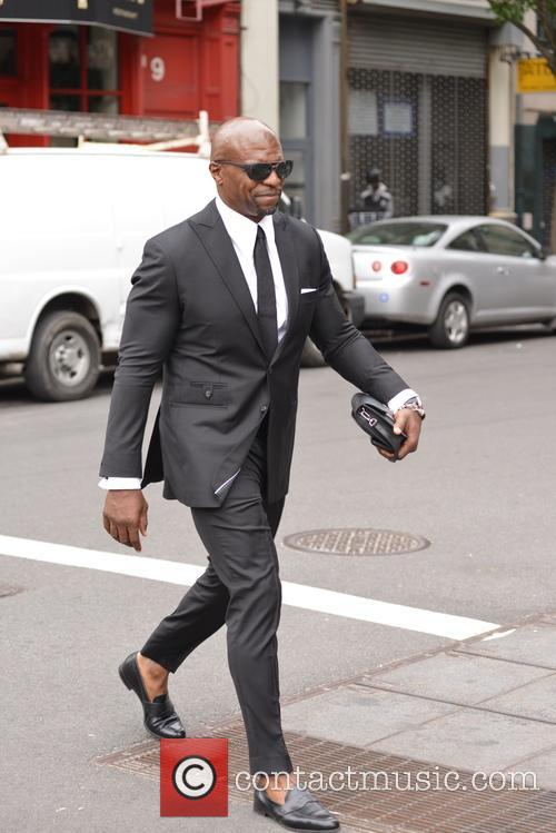 Terry Crews walking about in Soho