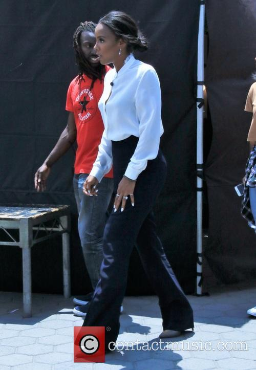 Kelly Rowland arrives at Universal Studios Hollywood for...