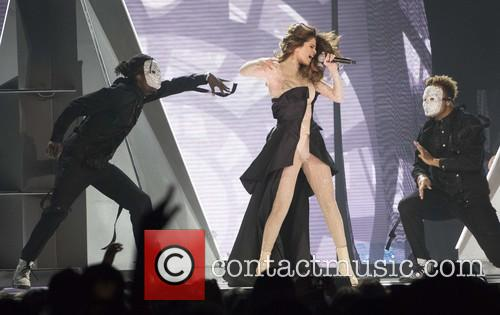 Selena Gomez performs live at the Scotiabank Saddledome