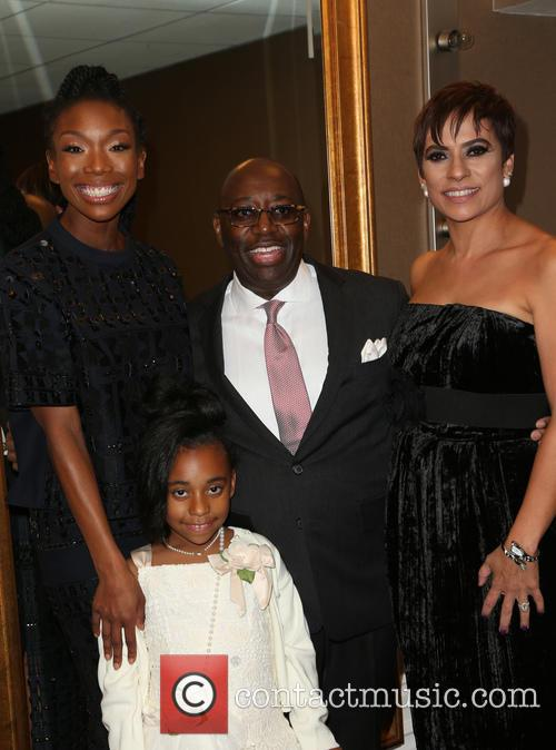 Brandy Norwood, Darrell D. Miller and Family