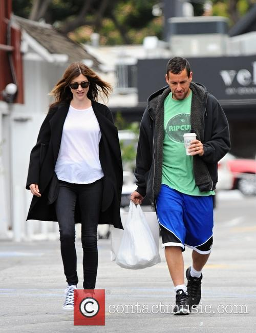 Adam Sandler and his wife Jackie Sandler out...