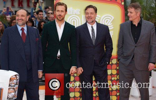 Joel Silver, Ryan Gosling, Russell Crowe and Shane Black 3