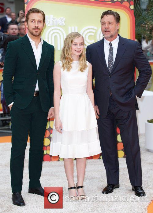 Ryan Gosling, Angourie Rice and Russell Crowe 9