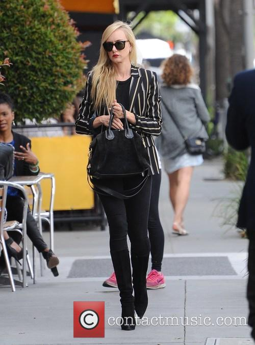 Kimberly Stewart shopping in Beverly Hills