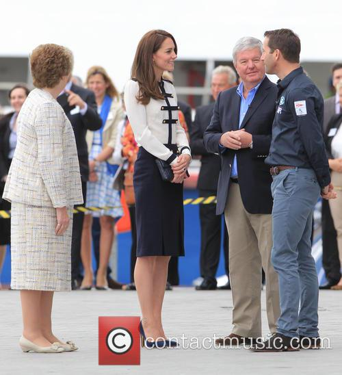 Catherine, Duchess Of Cambridge, Kate Middleton and Sir Ben Ainslie 1