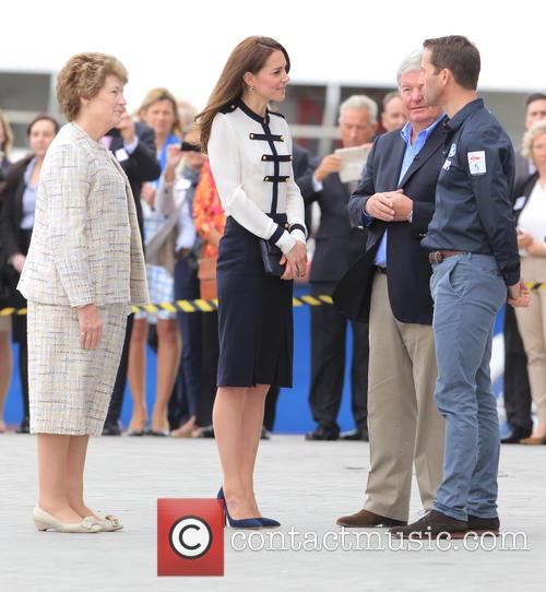 Catherine, Duchess Of Cambridge, Kate Middleton and Sir Ben Ainslie 2