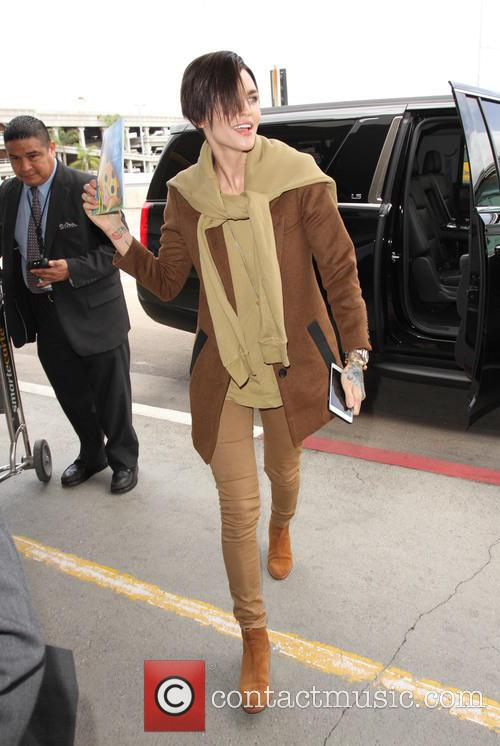 Ruby Rose at Los Angeles International Airport