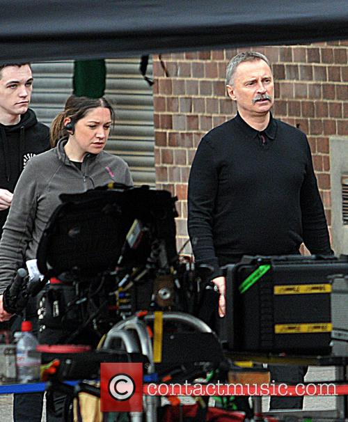 Robert Carlyle on the set of 'Trainspotting 2'