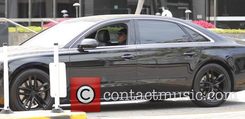 Rapper LL Cool J seen driving in his...