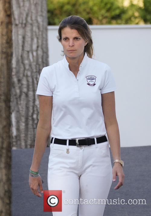 Athina Onassis attends Global Champion Tour Horse Tournament