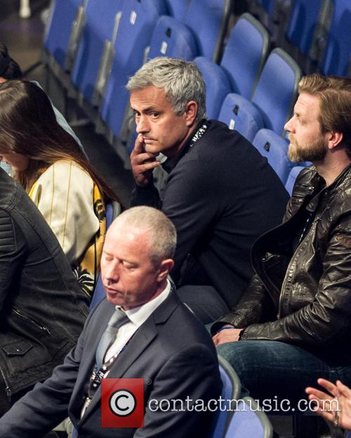 Jose Mourinho attends the David Haye and Arnold...