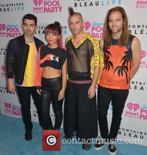 Joe Jonas, Jinjoo Lee, Cole Whittle, Jack Lawless and Dnce 1