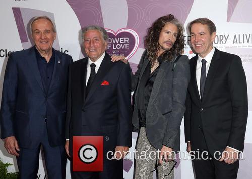 Larry Ruvo, Tony Bennett, Steven Tyler and Jeff Koons 10