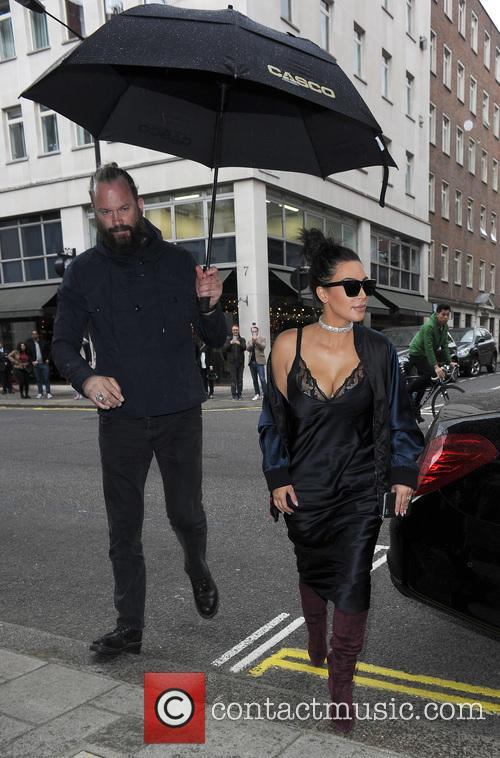 Kim Kardashian visits the Vivienne Westwood store in...