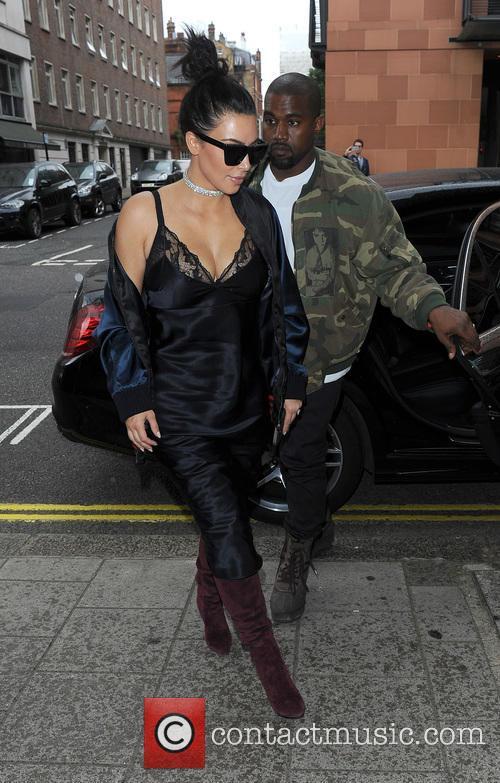 Kim Kardashian and Kanye West 2
