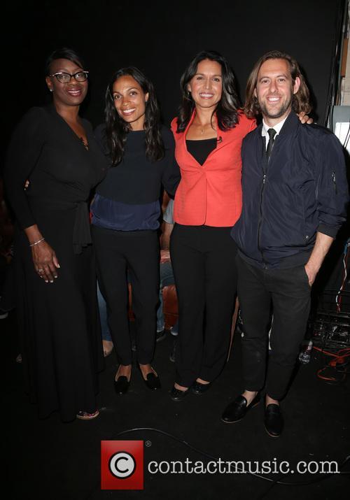 Nina Turner, Rosario Dawson, Tulsi Gabbard and Sean Carasso 1