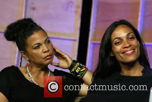 Melina Abdullah and Rosario Dawson 1