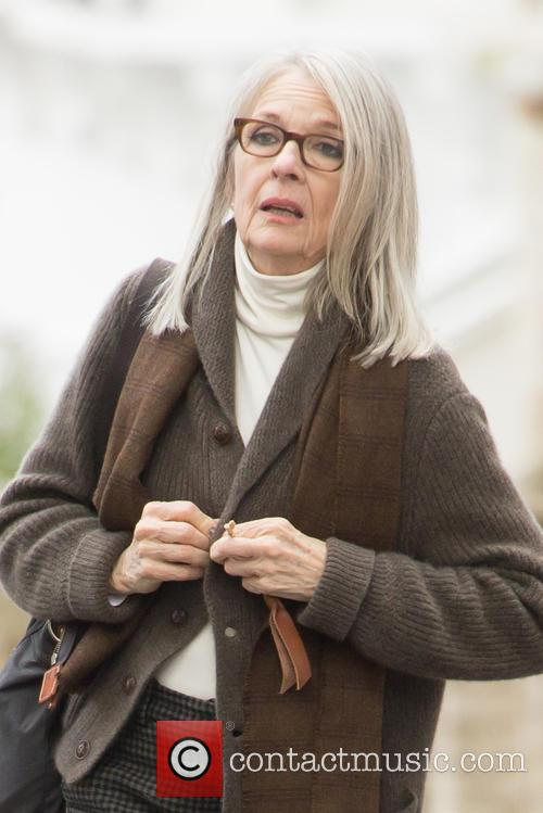 Diane Keaton filming scenes for the movie 'Hampstead'