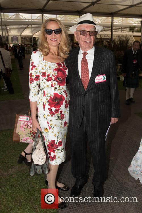 Jerry Hall and Rupert Murdoch 1