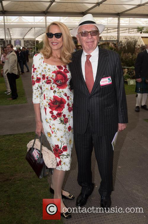 Jerry Hall and Rupert Murdoch 2