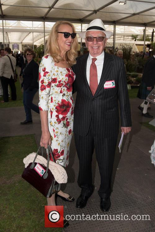 Jerry Hall and Rupert Murdoch 3