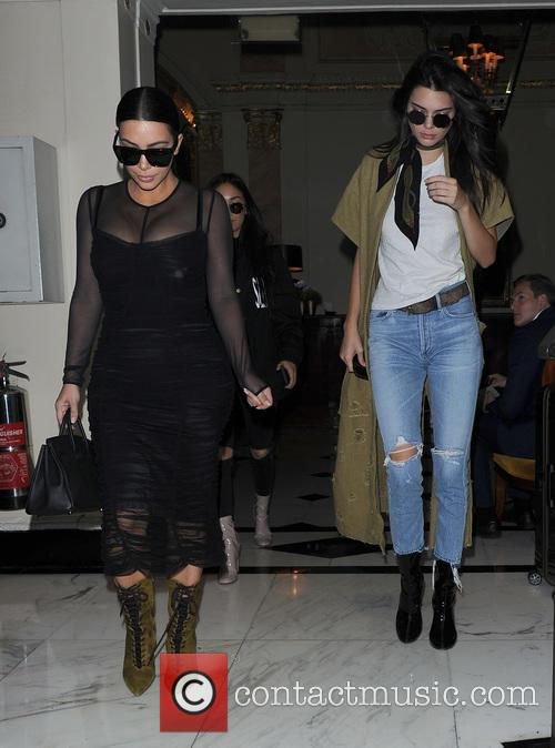 Kim Kardashian and her sister Kendall Jenner head...