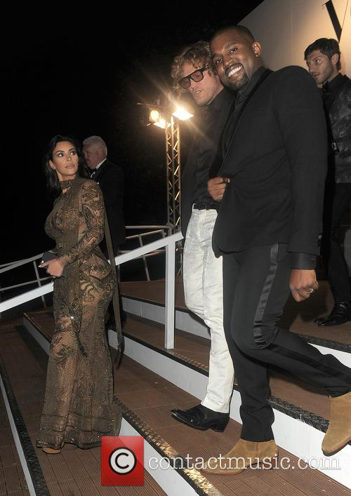 Kim Kardashian, Kanye West and Peter Dundas 4
