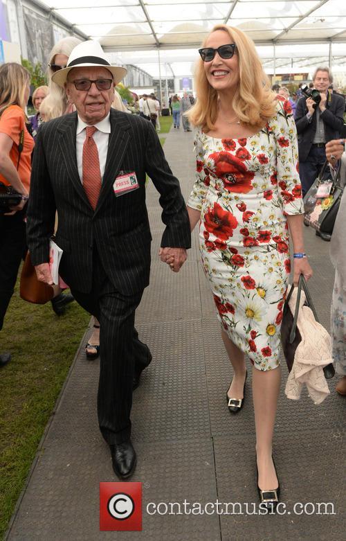 Rupert Murdoch and Jerry Hall 6