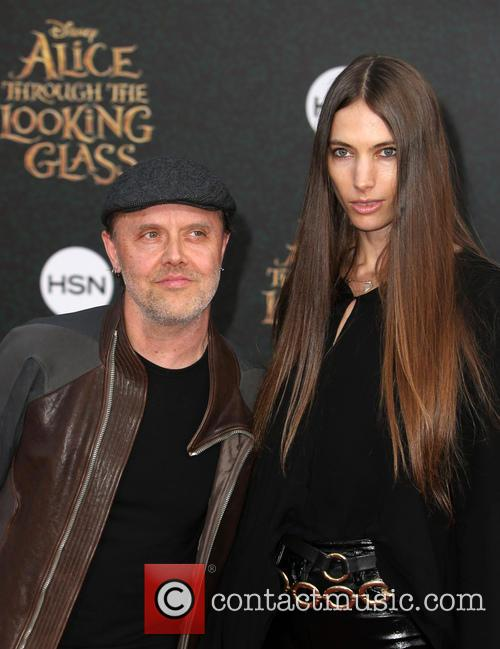 Lars Ulrich and Jessica Miller 2