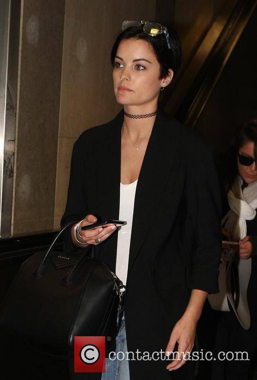 Jaimie Alexander arrives at Los Angeles International Airport...