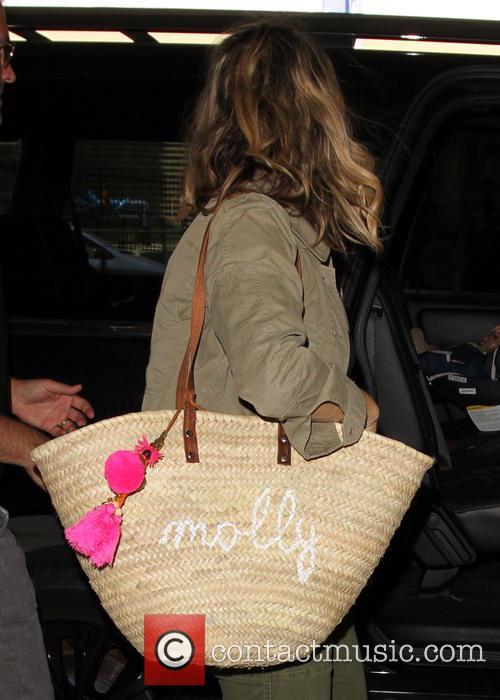 Molly Sims arrives at LAX