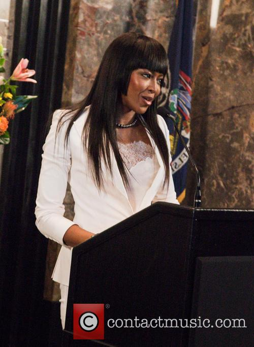 Naomi Campbell at the Empire State Buoin New...