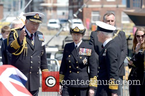 The unveiling of the restored HMS Hood ships...