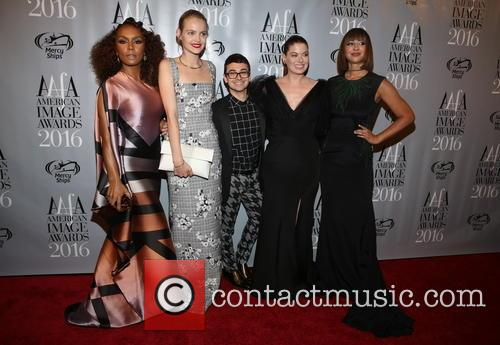Janet Mock, Jasmine Poulton, Christian Sirano, Debra Messing and Jackie Cruz 3