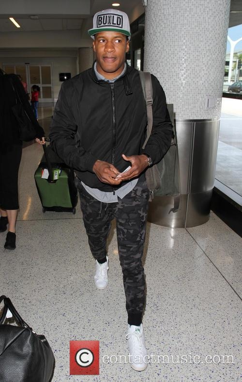 Nate Parker arrives at Los Angeles International (LAX)...