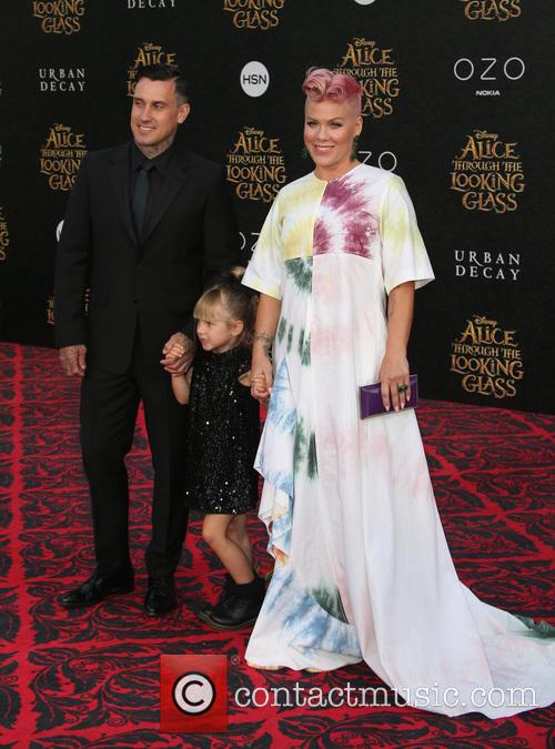 Carey Hart, Willow Sage Hart and Alecia Moore Aka Pink 4