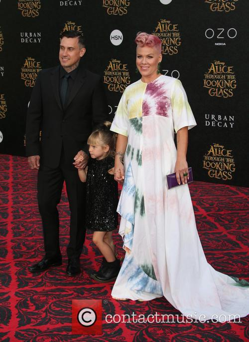 Carey Hart, Willow Sage Hart and Alecia Moore Aka Pink 5