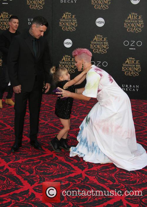 Carey Hart, Willow Sage Hart and Alecia Moore Aka Pink 6