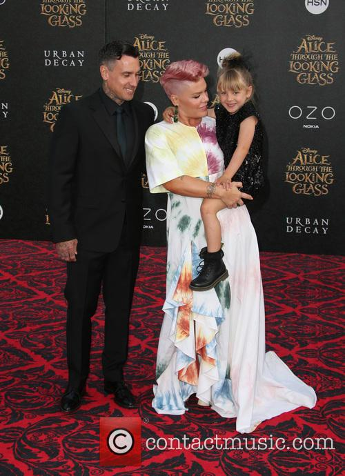 Carey Hart, Willow Sage Hart and Alecia Moore Aka Pink 8