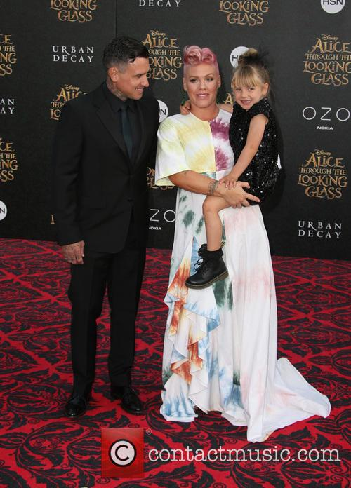 Carey Hart, Willow Sage Hart and Alecia Moore Aka Pink 9