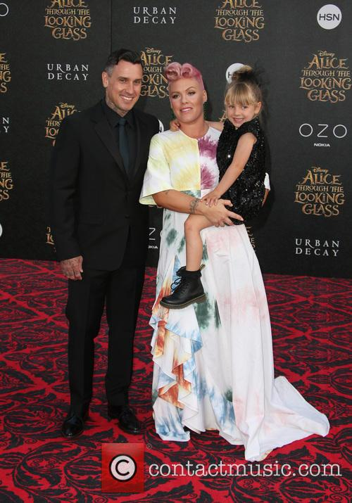 Carey Hart, Willow Sage Hart and Alecia Moore Aka Pink 10