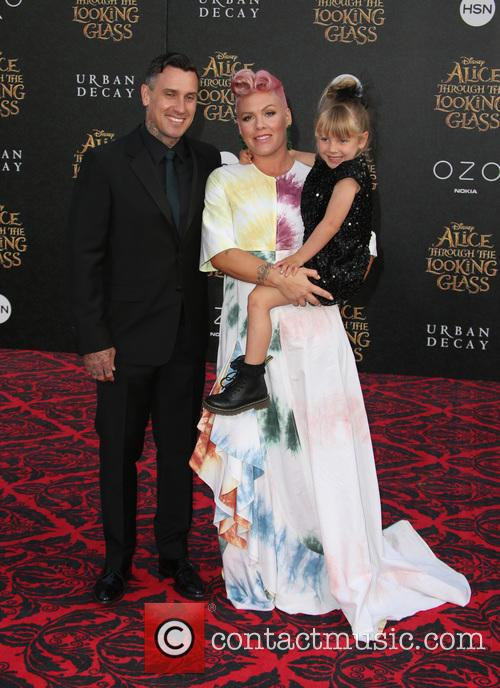 Carey Hart, Willow Sage Hart and Alecia Moore Aka Pink 11