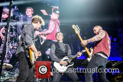 James Bourne, Matt Willis, Charlie Simpson and Busted 4