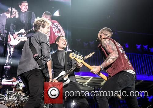 James Bourne, Matt Willis, Charlie Simpson and Busted 5