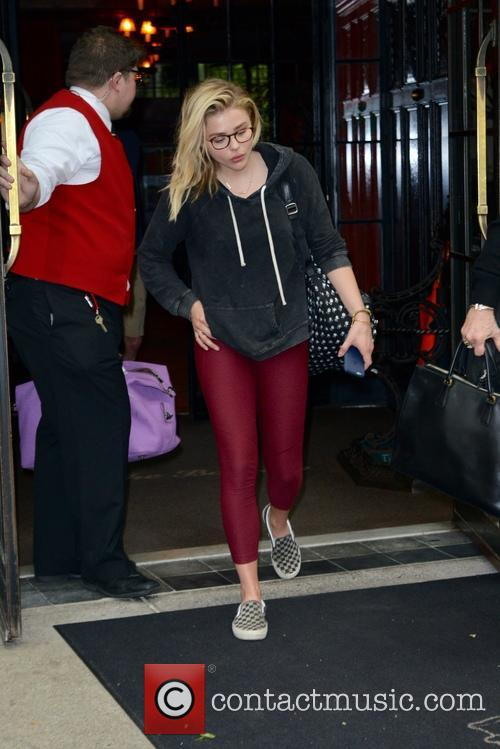 Chloe Moretz exiting her hotel in New York